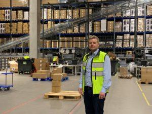 Liiketoimintajohtaja Jouko Lehtonen HUB logistics